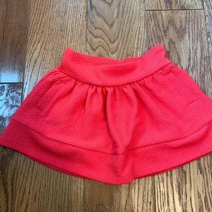 Toddler girl red pocket skirt